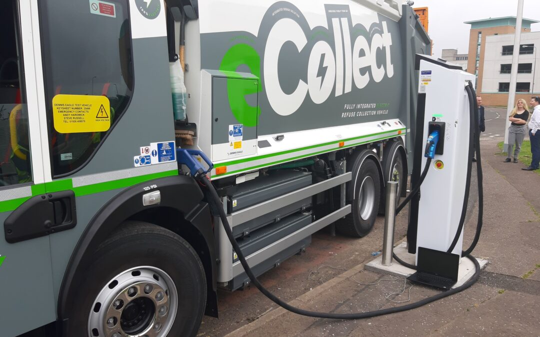 First electric garbage truck in Great Britain – with our HPC technology!